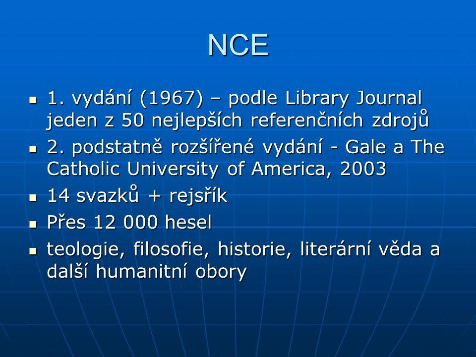 NCE 1. vydání (1967) – podle Library Journal jeden z 50 nejlepších referenčních zdrojů 1.
