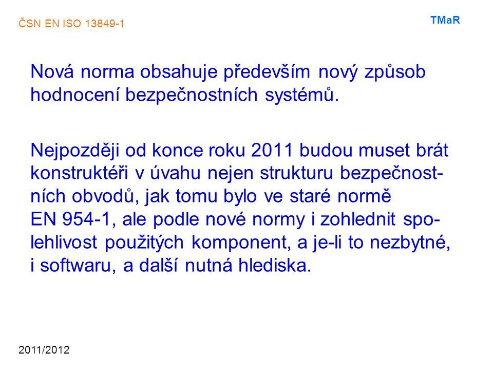 ČSN EN ISO 13849-1 2011/2012 TMaR ……….