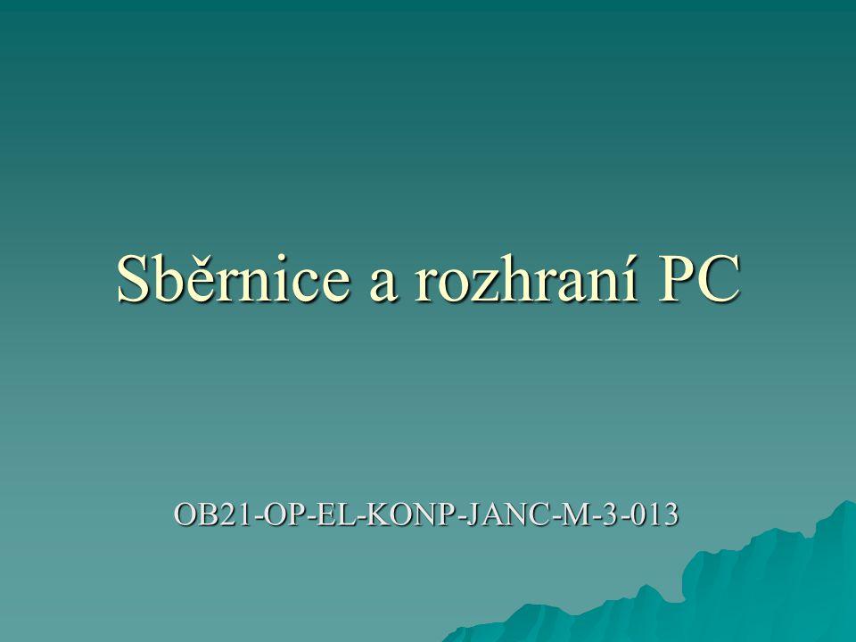 Sběrnice a rozhraní PC OB21-OP-EL-KONP-JANC-M-3-013
