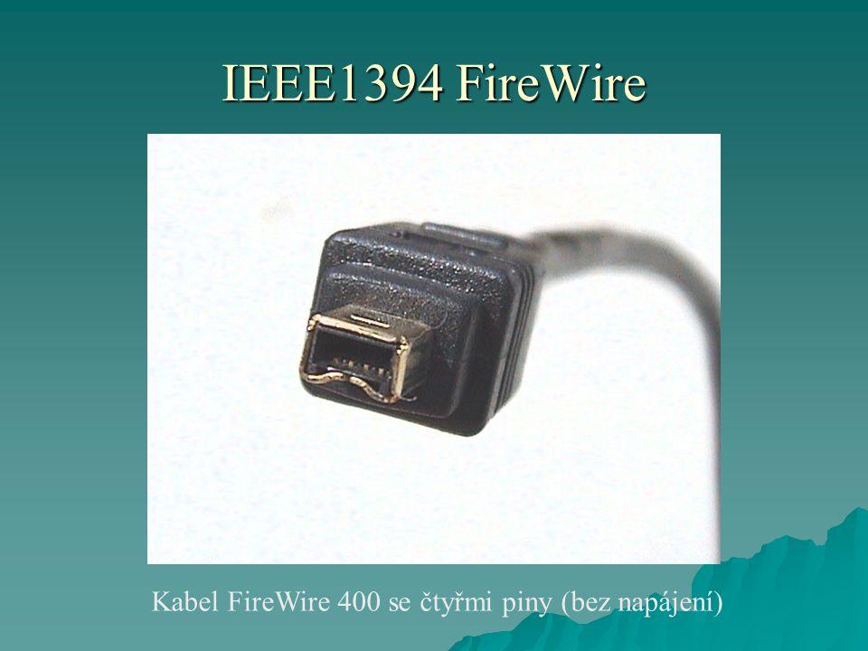 IEEE1394 FireWire Kabel FireWire 400 se čtyřmi piny (bez napájení)