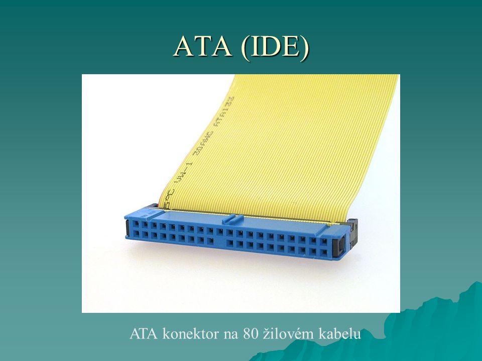 ATA (IDE) ATA konektor na 80 žilovém kabelu