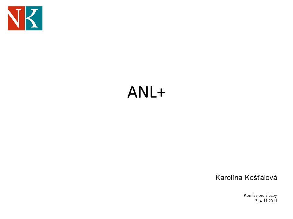 ANL+ Karolína Košťálová Komise pro služby 3.-4.11.2011