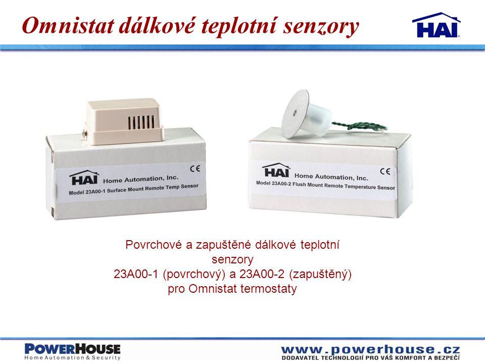 Omnistat dálkové teplotní senzory Povrchové a zapuštěné dálkové teplotní senzory 23A00-1 (povrchový) a 23A00-2 (zapuštěný) pro Omnistat termostaty