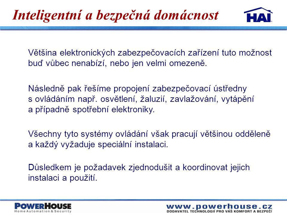 Cenová dostupnost systému Náklady závisí na velikosti domu a na potřebách uživatele.