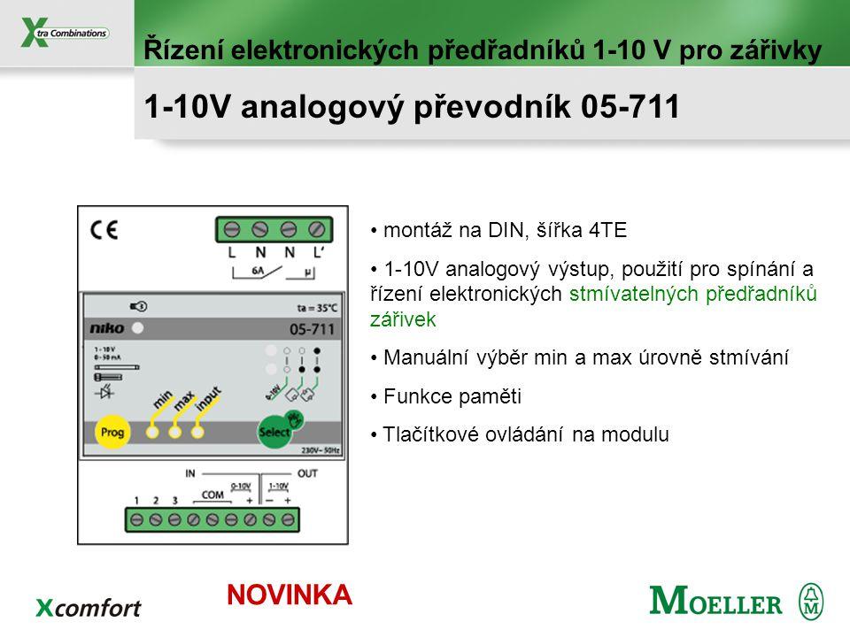 Výkonové stmívání do 3680 VA R, L, C zátěž Analogové řízení 0/10 V 1-10V nebo tlačítkové ovládání 65-412 2.760 VA 65-416 3.680 VA