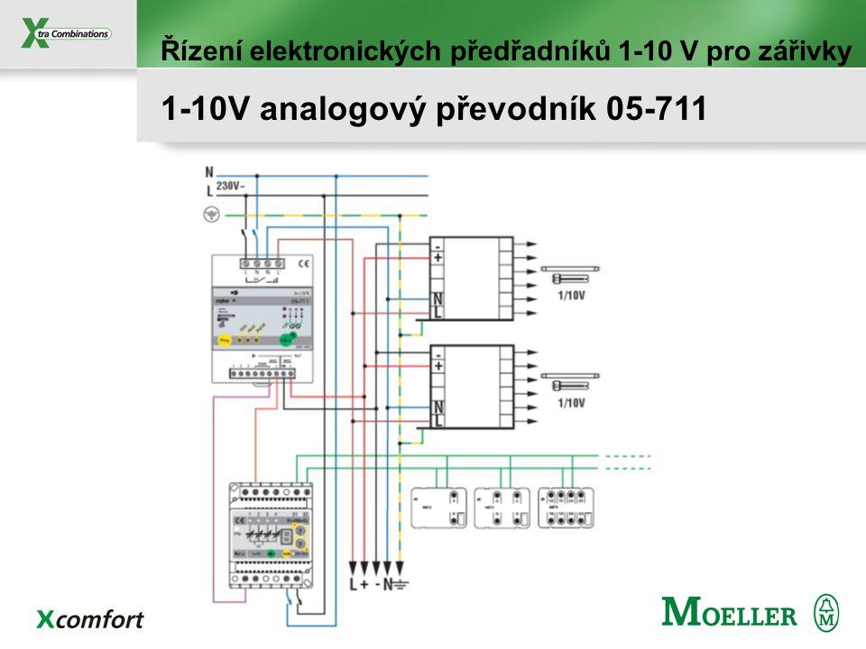 Program – Manuální výběr min. a max. úrovně stmívání Min. a max. nastavení stmívání min: 1% - 40% max: 60% - 100% Řízení elektronických předřadníků 1-