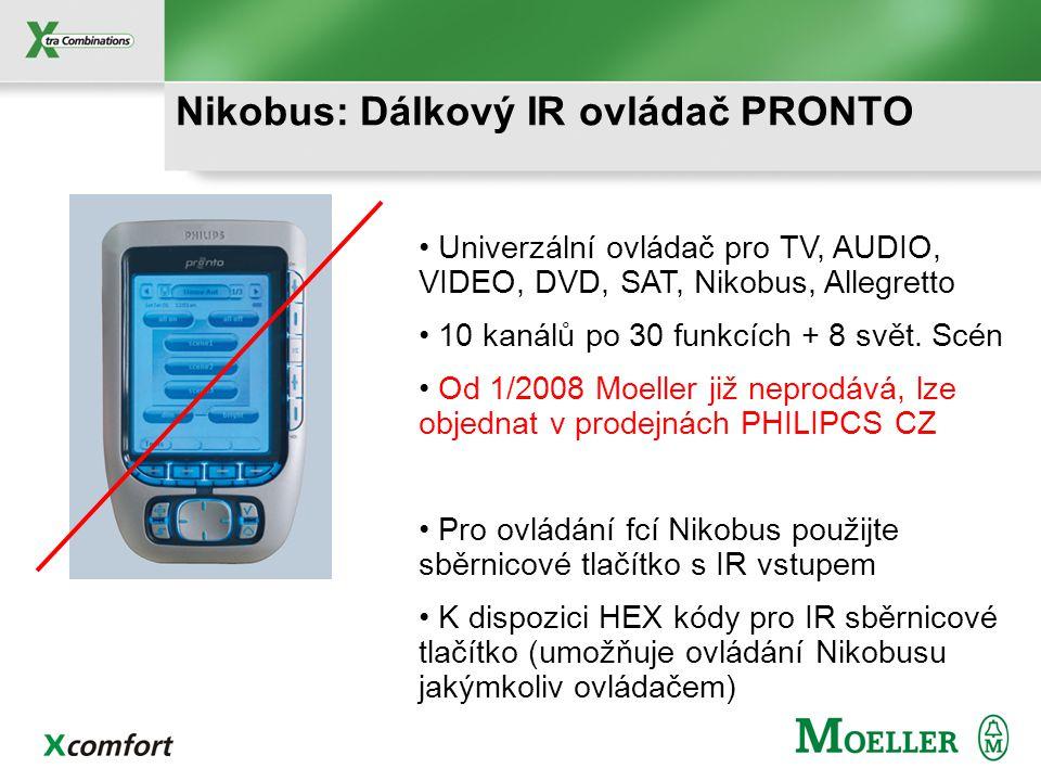 05-311 1 kanál Nikobus: Dálkové RF ovládače 05-314 4 kanály Ruční RF ovládače NOVINKA 05-313 5 předvoleb x 3 tlačítka 05-312 4 předvolby x 13 tlačítek