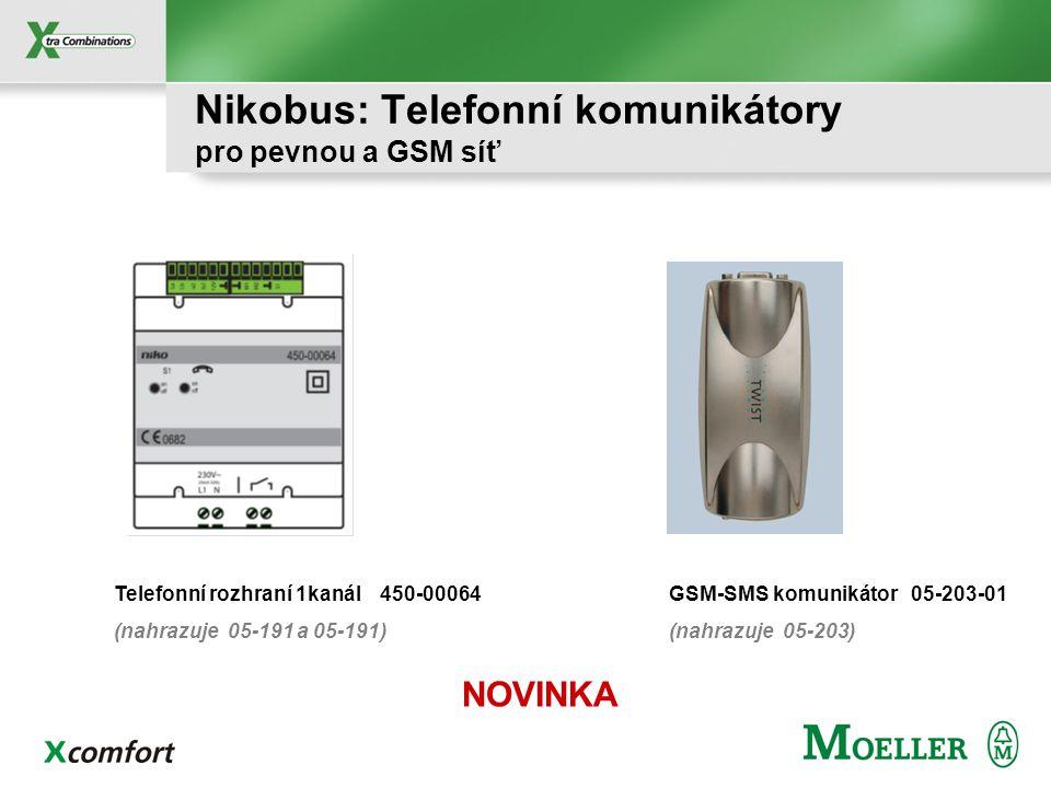 Nikobus: Komunikační rozhraní Pro parametrizaci systému přes PC PC-LINK – časové funkce PC-LOGIC – logické funkce Modul zpětné vazby – dotykový panel