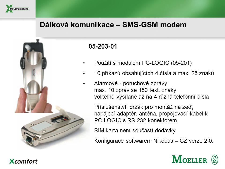 Nikobus: Telefonní komunikátory pro pevnou a GSM síť Telefonní rozhraní 1kanál 450-00064 (nahrazuje 05-191 a 05-191) GSM-SMS komunikátor 05-203-01 (na