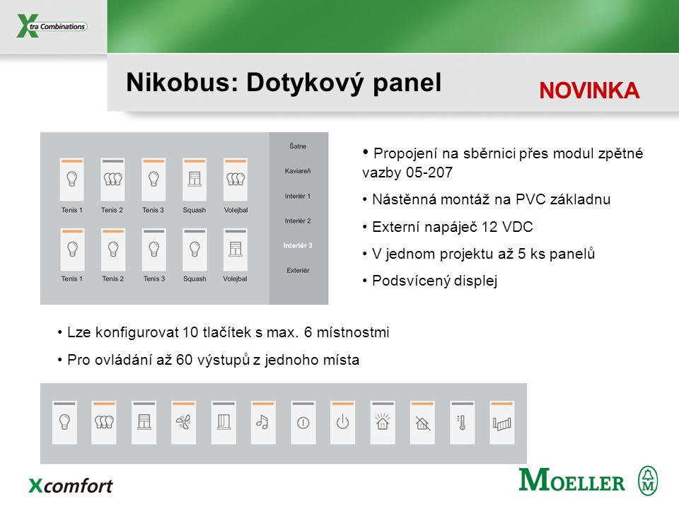 Nikobus: Dotykový panel NOVINKA