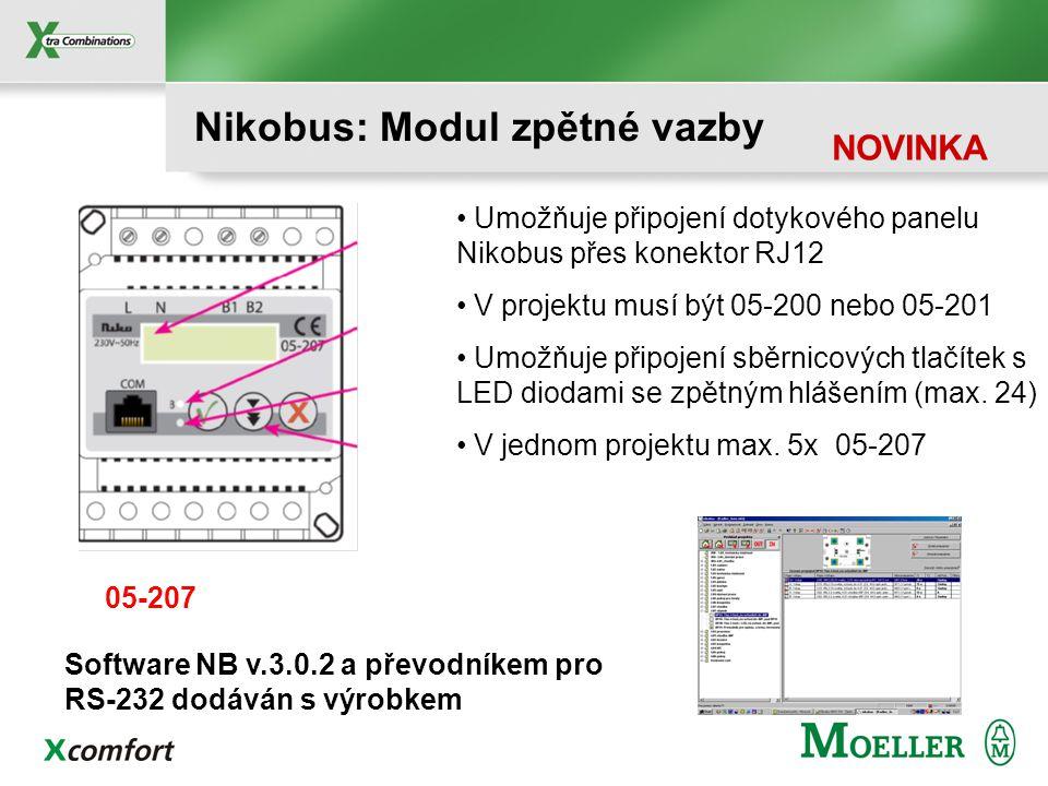 Konfigurace panelu v sw. Nikobus v. 3.0 Přehled ikon