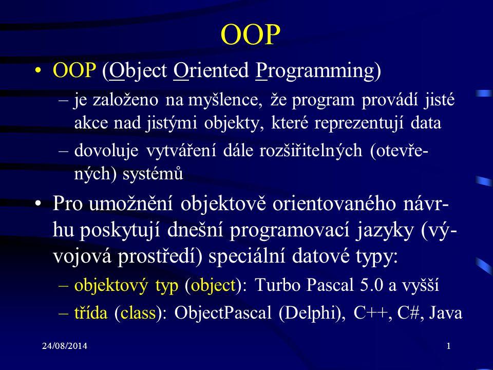 24/08/20142 Programovací jazyk C# Vyvinutý v rámci platformy MS.NET Jedná se o objektově orientovaný jazyk Založen na jazycích C++ a Java Syntaxe C# je podobná syntaxi jazyka C Lze jej využít k tvorbě např.: –desktopových aplikací –webových aplikací, webových služeb a stránek –programů pro mobilní zařízení (PDA, mobilní telefony) –databázových programů