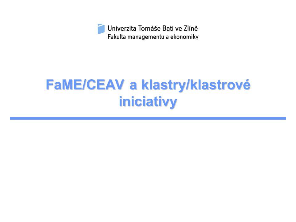 FaME/CEAV a klastry/klastrové iniciativy