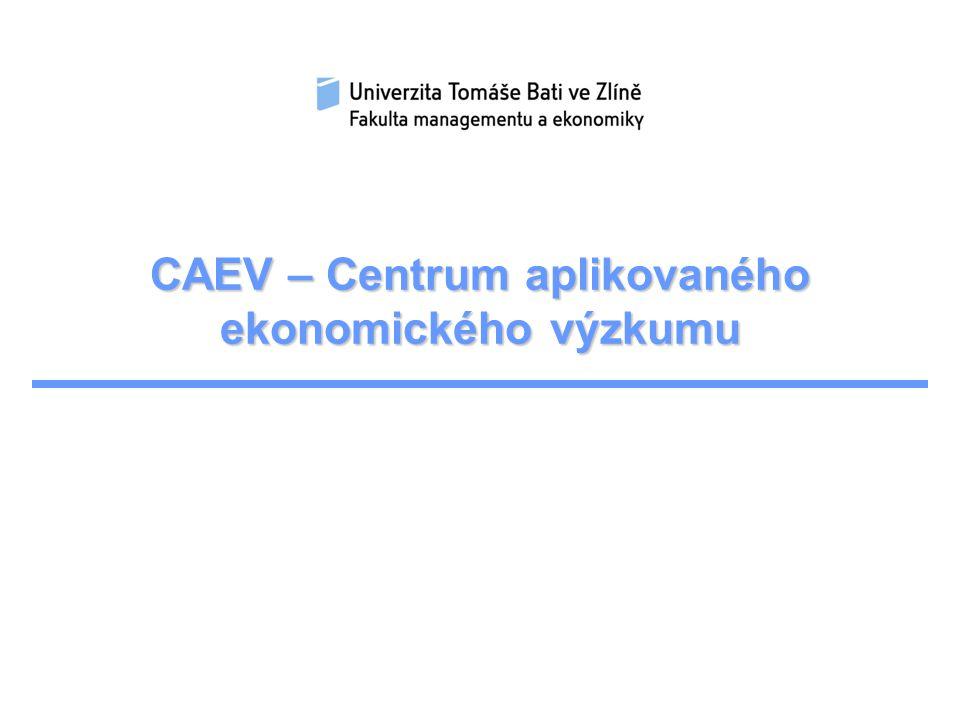 CAEV – Centrum aplikovaného ekonomického výzkumu