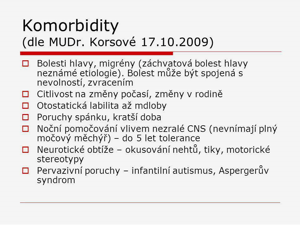 Komorbidity (dle MUDr.