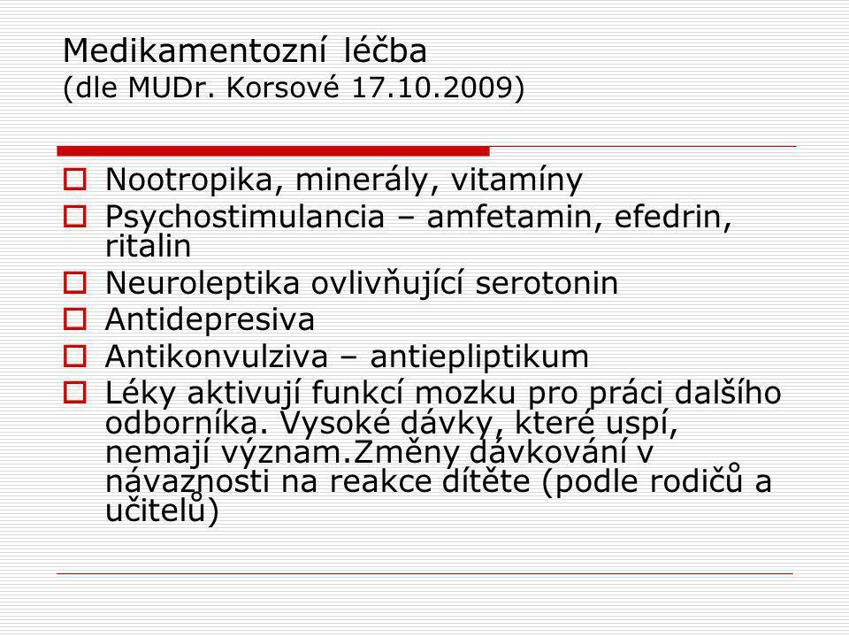 Medikamentozní léčba (dle MUDr.