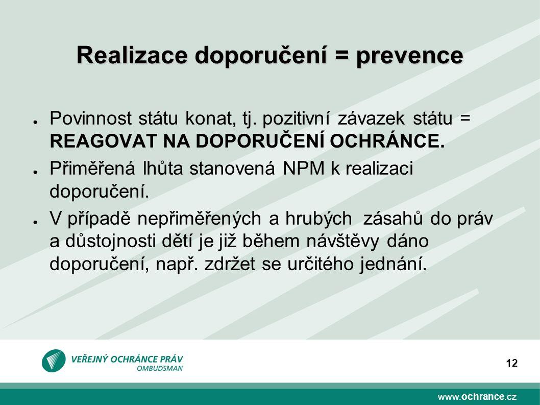 www.ochrance.cz 12 ● Povinnost státu konat, tj.