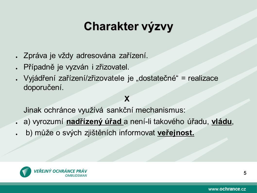 www.ochrance.cz 5 ● Zpráva je vždy adresována zařízení.