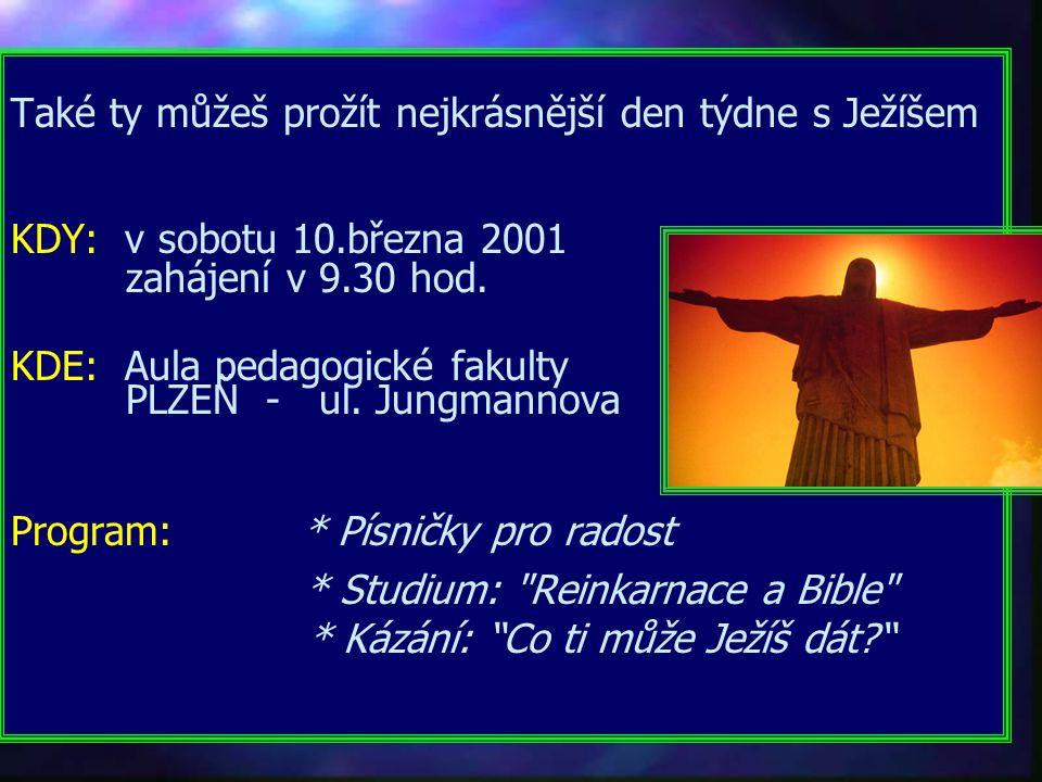 Historický přehled církví Proč je tolik církví Zveme vás na další přednášku na téma: