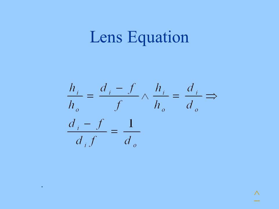 Lens Equation ^.