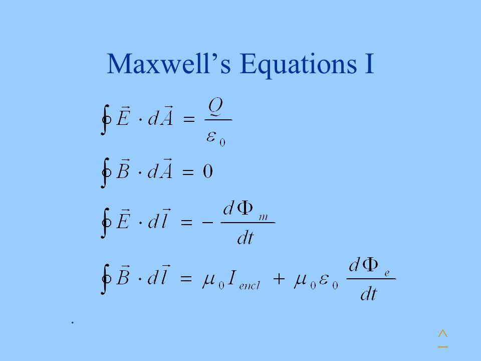 Maxwell's Equations I ^.