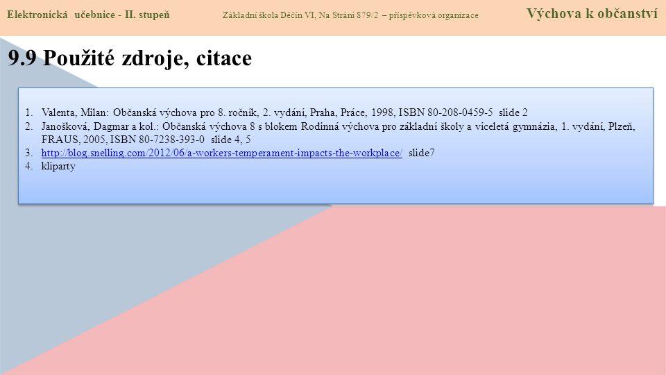 9.10 Anotace Elektronická učebnice - II.