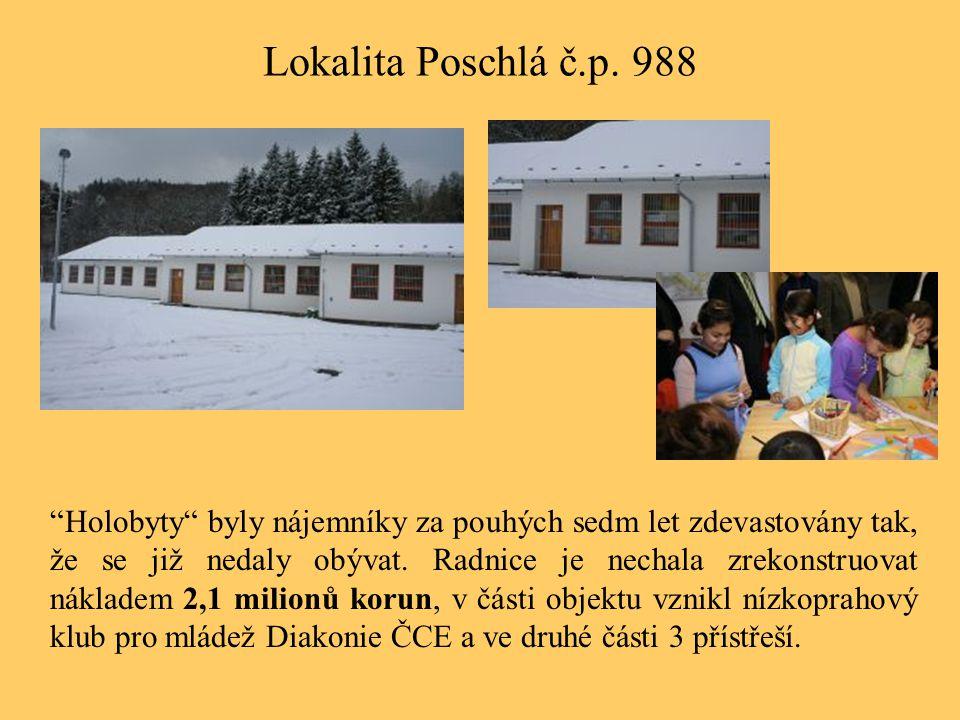 """Lokalita Poschlá č.p. 988 """"Holobyty"""" byly nájemníky za pouhých sedm let zdevastovány tak, že se již nedaly obývat. Radnice je nechala zrekonstruovat n"""