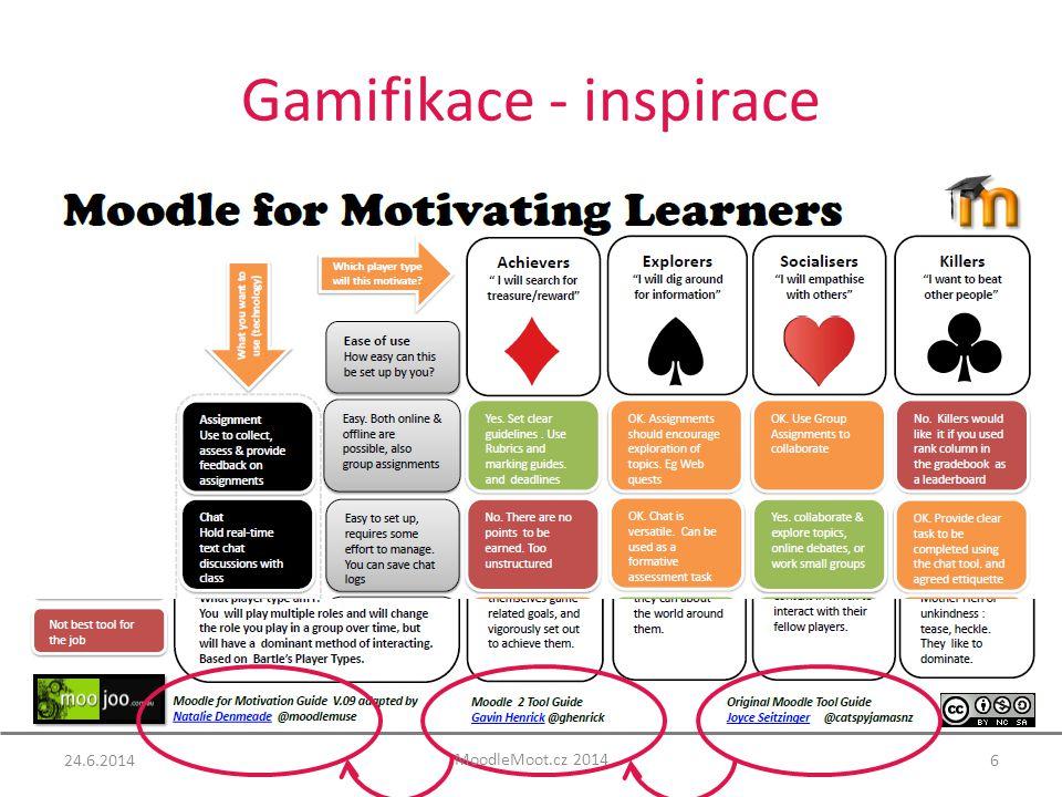 Gamifikace - inspirace 6 MoodleMoot.cz 2014 24.6.2014
