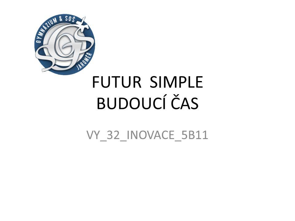 FUTUR SIMPLE BUDOUCÍ ČAS VY_32_INOVACE_5B11
