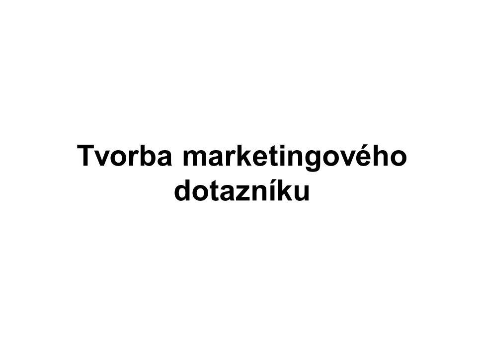 Tvorba marketingového dotazníku