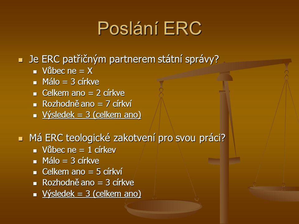 Poslání ERC Je ERC patřičným partnerem státní správy.