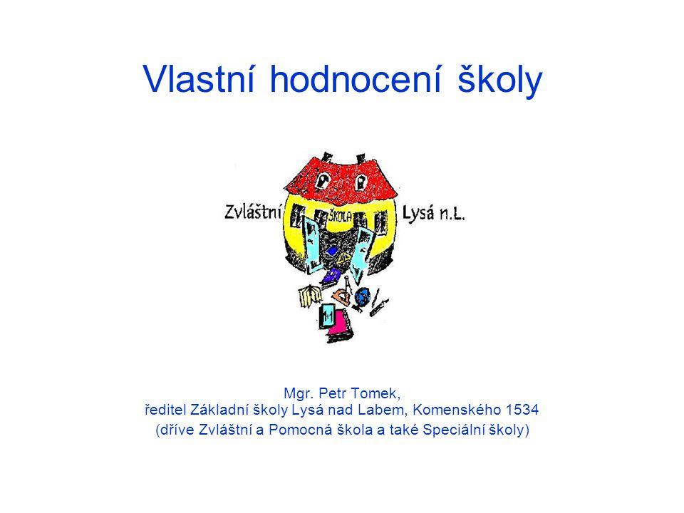 Vlastní hodnocení školy Mgr. Petr Tomek, ředitel Základní školy Lysá nad Labem, Komenského 1534 (dříve Zvláštní a Pomocná škola a také Speciální školy