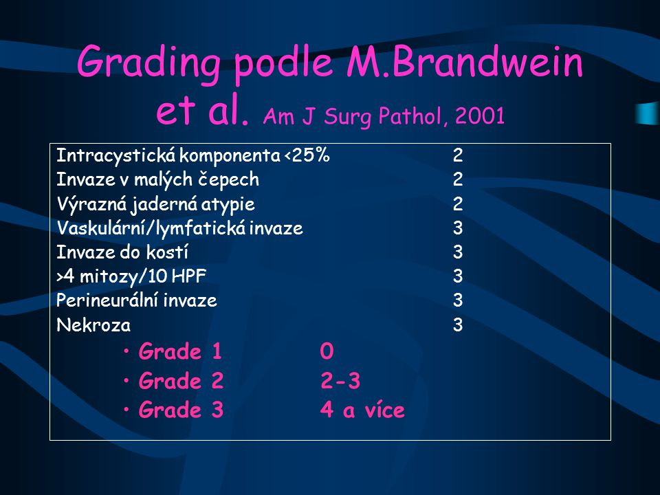 Grading podle M.Brandwein et al.