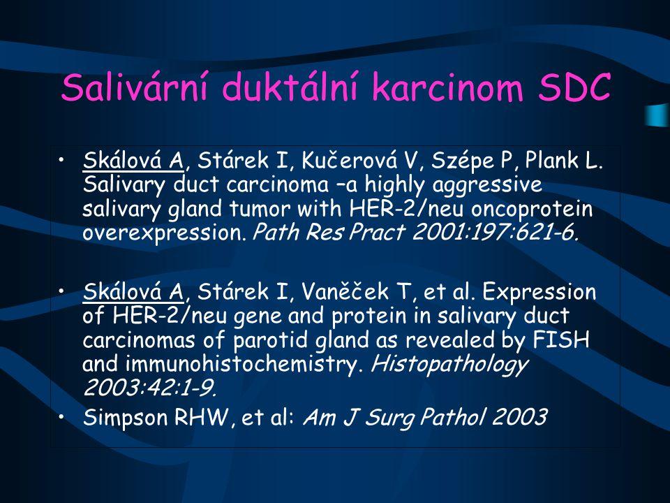 Salivární duktální karcinom SDC Skálová A, Stárek I, Kučerová V, Szépe P, Plank L.