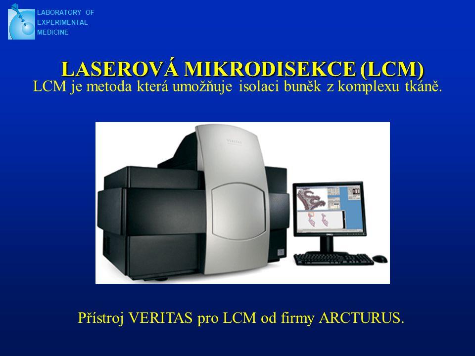 LASEROVÁ MIKRODISEKCE (LCM) LCM je metoda která umožňuje isolaci buněk z komplexu tkáně.