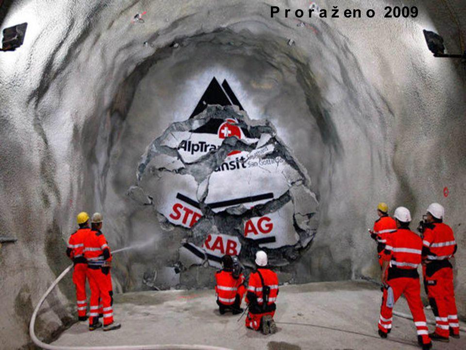 V tunelu je vysoká vlhkost 70%... 125 000l vody projde raženou horninou a musí být z tunelu odstraněno