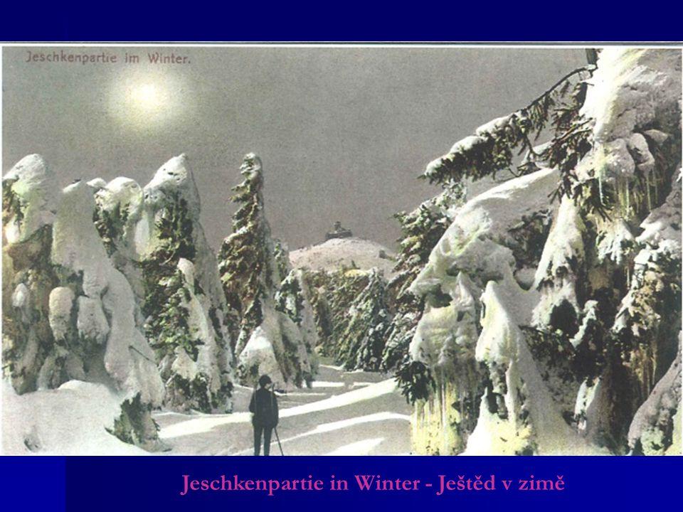 Jeschkenpartie in Winter - Ještěd v zimě