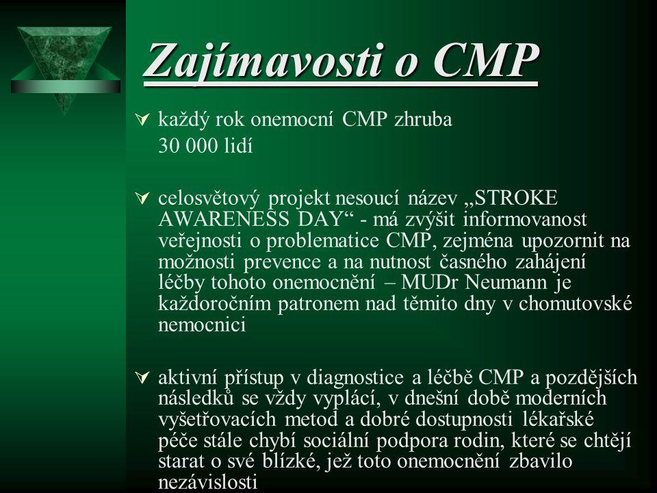 Kazuistika pacientky  pacientka B.I. *1963 - kuřák, HAK  příjem pro náhlou poruchu hybnosti ½ těla a fatickou poruchu 17.12.05  podání trombolýzy v