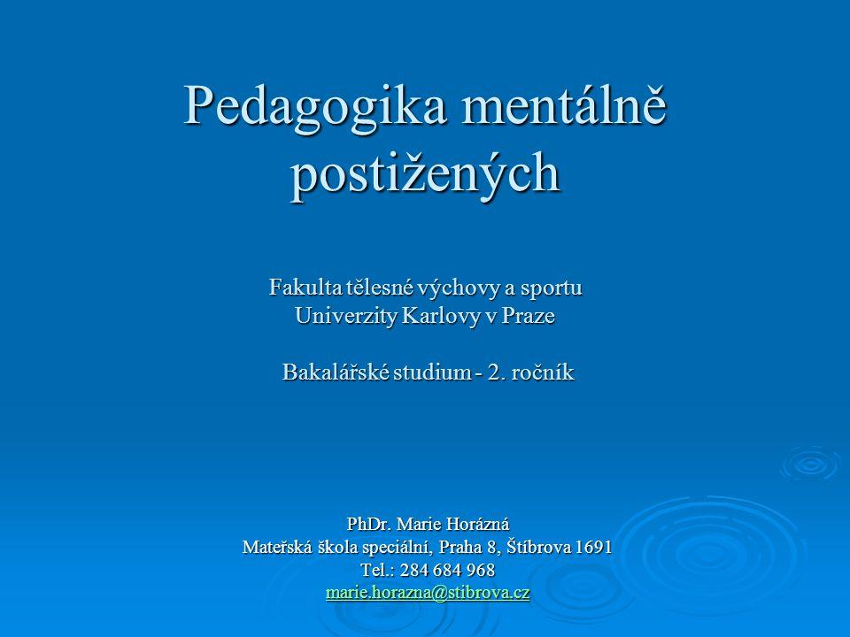 marie.horazna@stibrova.cz DS - Fyziognomické zvláštnosti I.