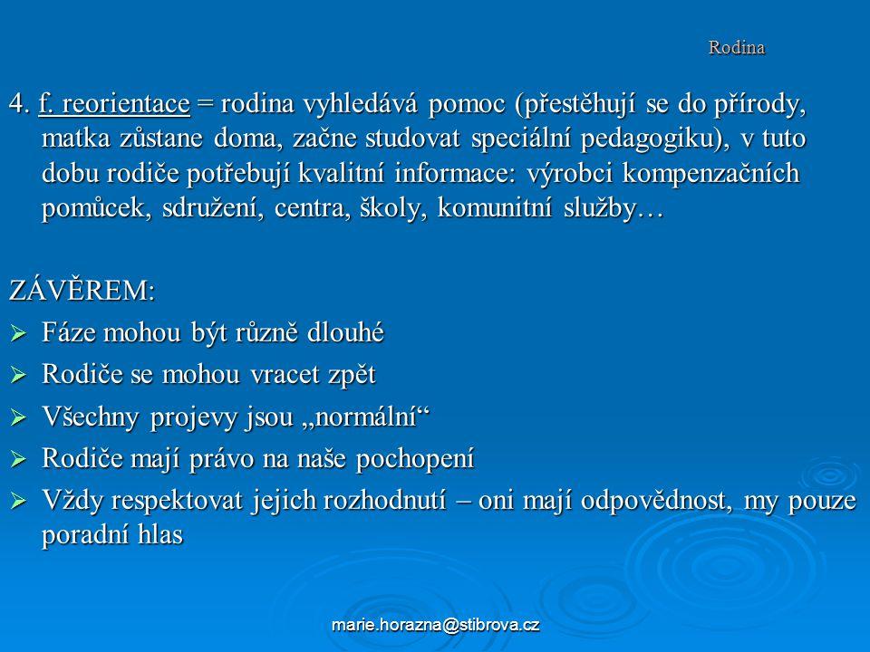 marie.horazna@stibrova.cz Rodina 4.f.
