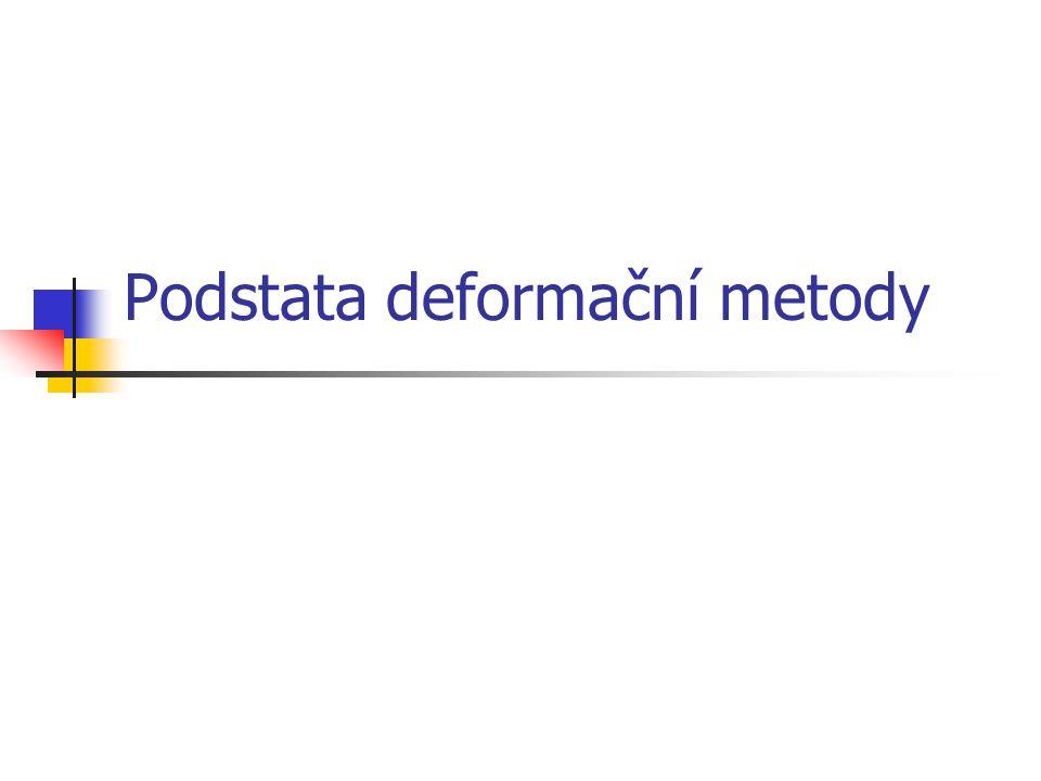 Podstata deformační metody