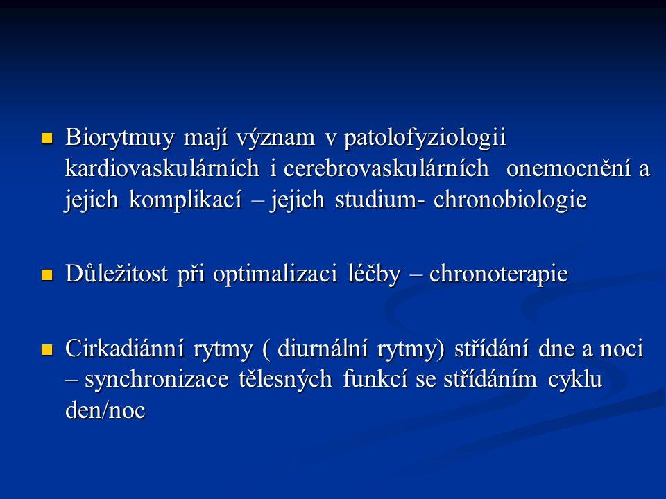 Řízení cirkadiánních rytmů U savců - nervové i humorální faktory – ústředí je n.