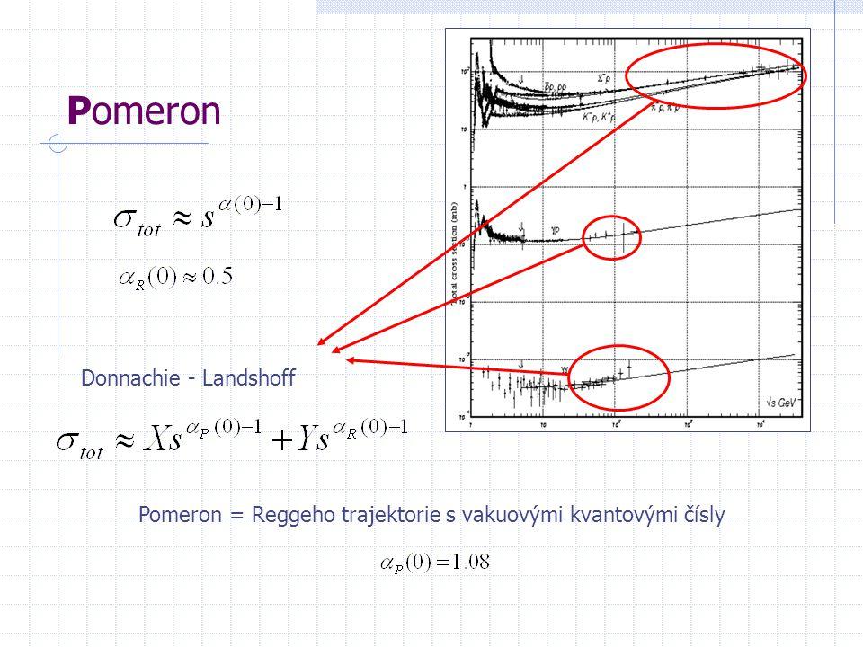 Pomeron Donnachie - Landshoff Pomeron = Reggeho trajektorie s vakuovými kvantovými čísly