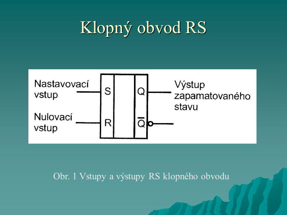 Typy klopných obvodů Obvody typu latch  Předchozí obvody s hodinovým vstupem měnily svůj stav, pokud hodinový vstup měl hodnotu 1.