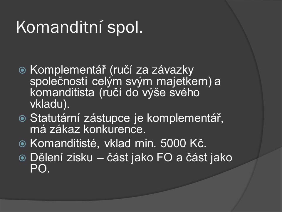 Komanditní spol.