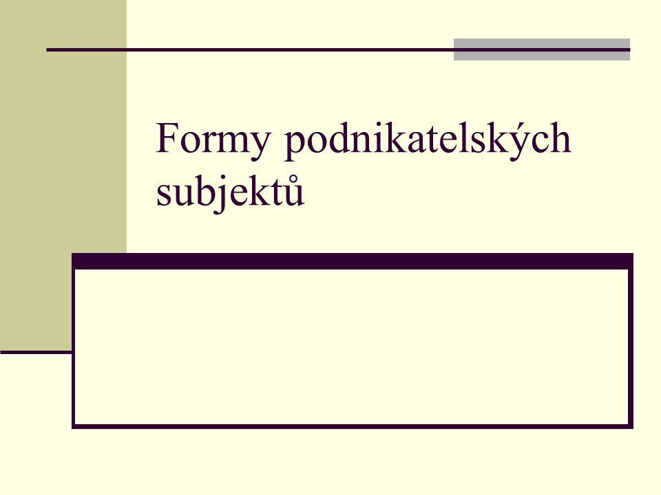 Převaha právní formy: s r.o.