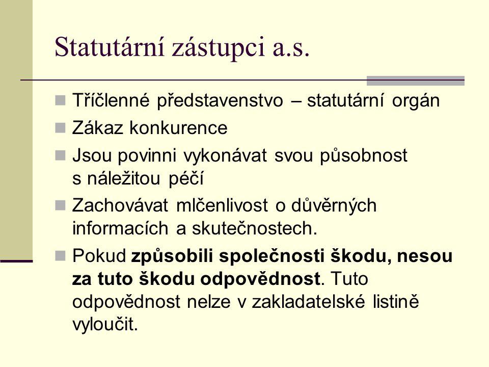 Statutární zástupci a.s.
