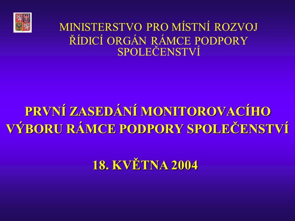PROGRAM PRVNÍHO ZASEDÁNÍ MONITOROVACÍHO VÝBORU RPS (1.