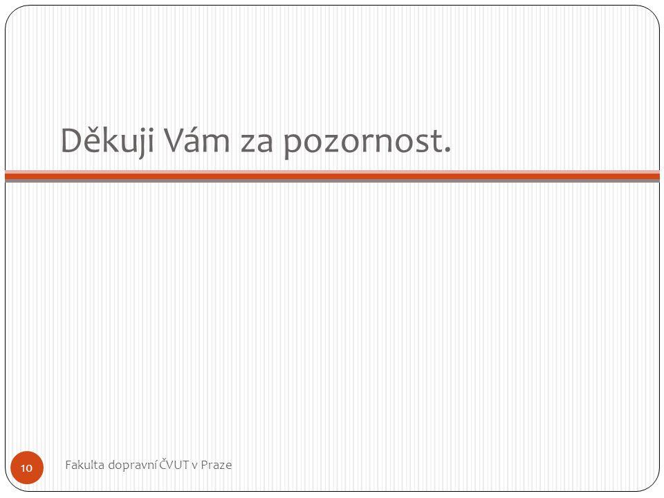 Děkuji Vám za pozornost. Fakulta dopravní ČVUT v Praze 10