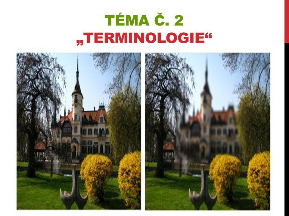 """TÉMA Č. 2 """"TERMINOLOGIE"""""""